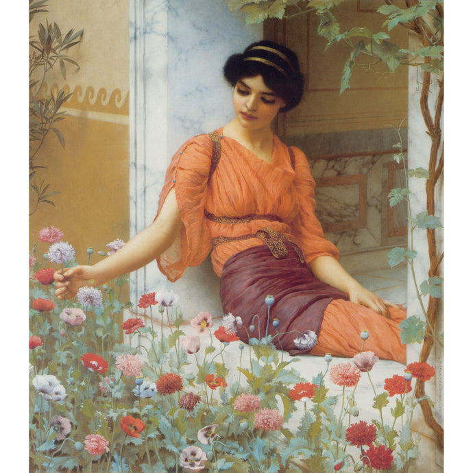 Summer Flowers - John William Godward - 1903 - Paint by Numbers Kit