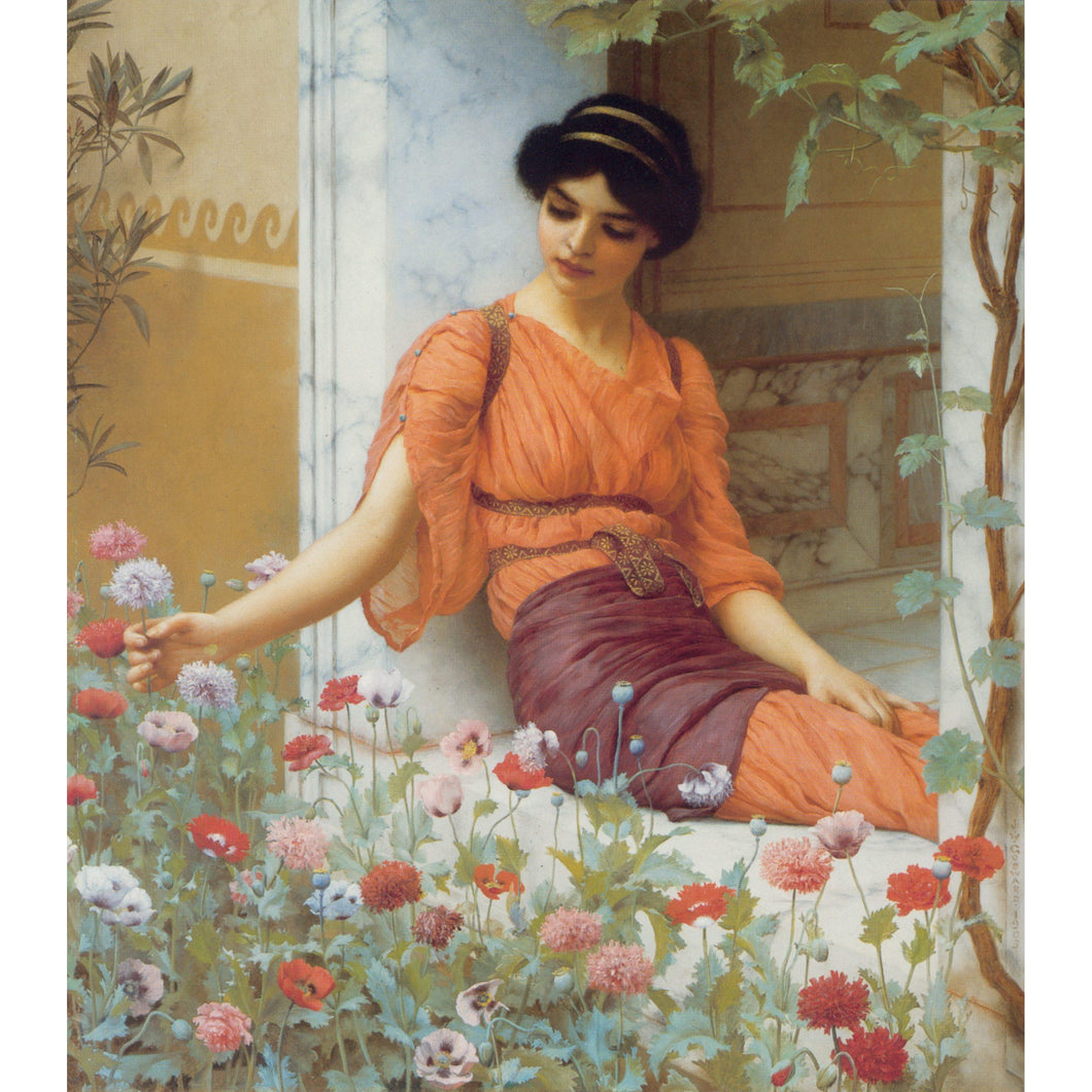 DIY Paint by Number kit for Adults on Canvas-Summer Flowers - John William Godward - 1903-Home