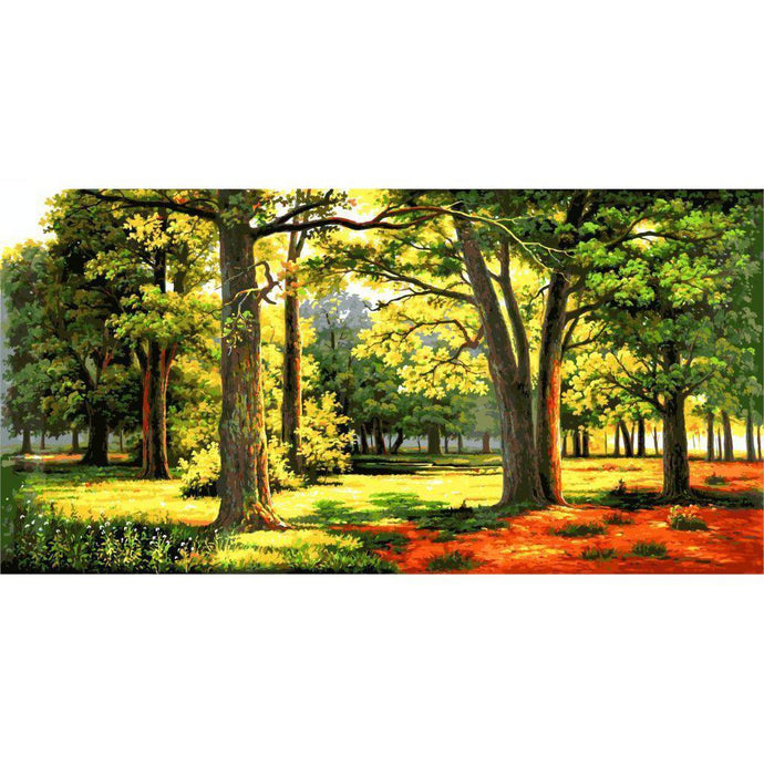 DIY Paint by Number kit for Adults on Canvas-Summer Forrest [EXTRA Large Print]-50x100cm (20x40inches)