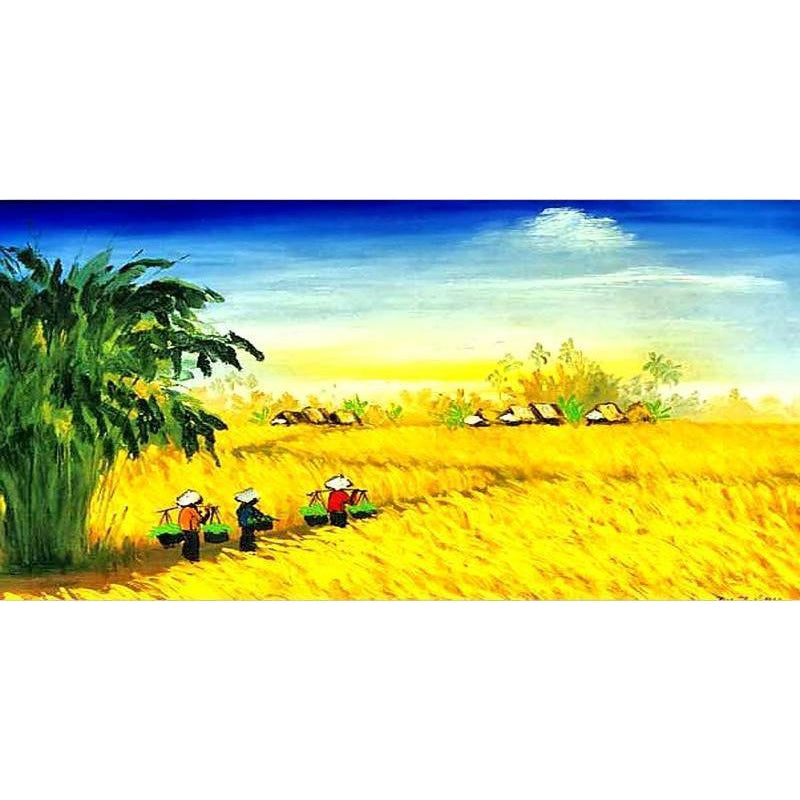 DIY Paint by Number kit for Adults on Canvas-Summer Harvest-40x80cm (16x32inches)