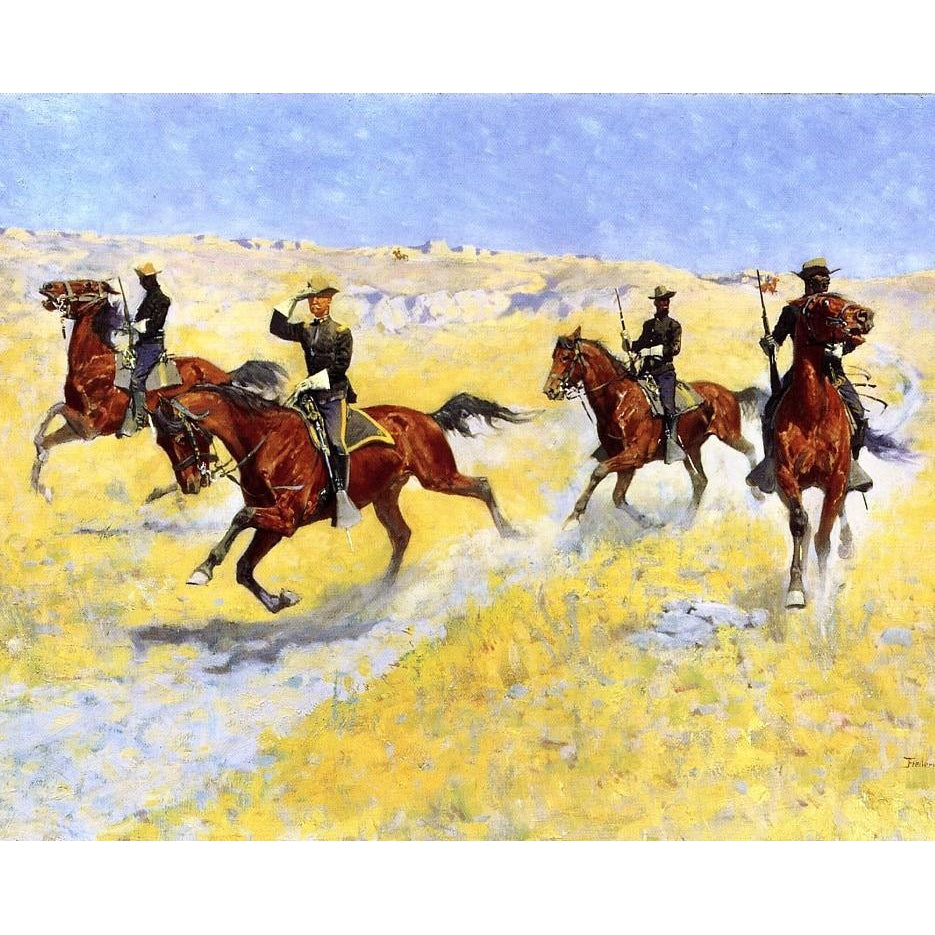 DIY Paint by Number kit for Adults on Canvas-The Advance - Frederic Sackrider Remington -1898-Home