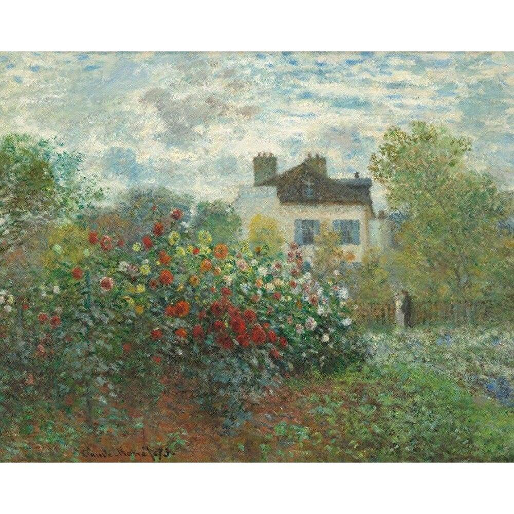 DIY Paint by Number kit for Adults on Canvas-The Artist's Garden in Argenteuil - Claude Monet - 1873-
