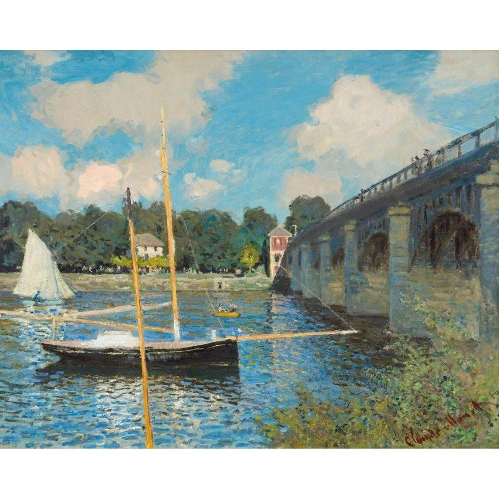 DIY Paint by Number kit for Adults on Canvas-The Bridge at Argenteuil - Claude Monet - 1874-