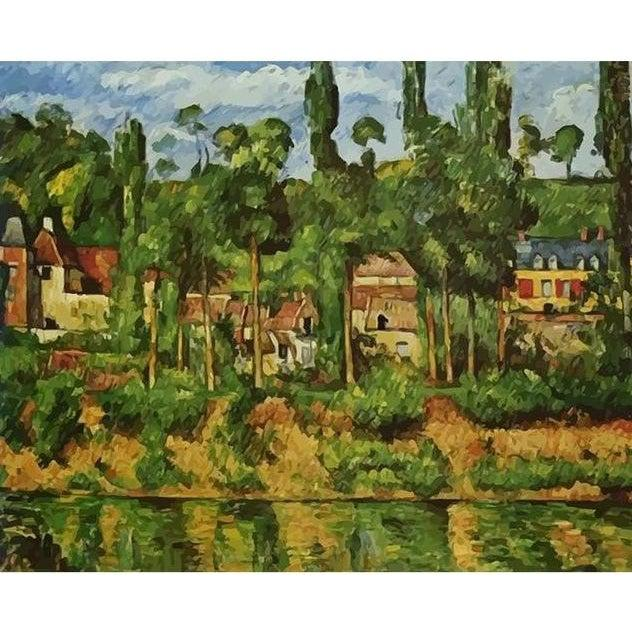 DIY Paint by Number kit for Adults on Canvas-The Chateau de Medan - Paul Cezanne - 1880-Painting & Calligraphy