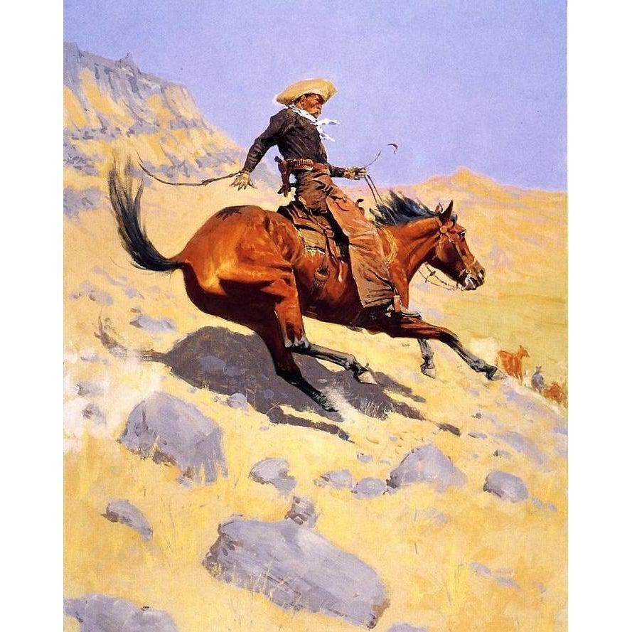 DIY Paint by Number kit for Adults on Canvas-The Cowboy - Frederic Sackrider Remington - 1902-Home