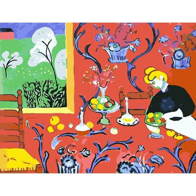 The Dessert: Harmony in Red - Henri Matisse - Paint by Numbers Kit