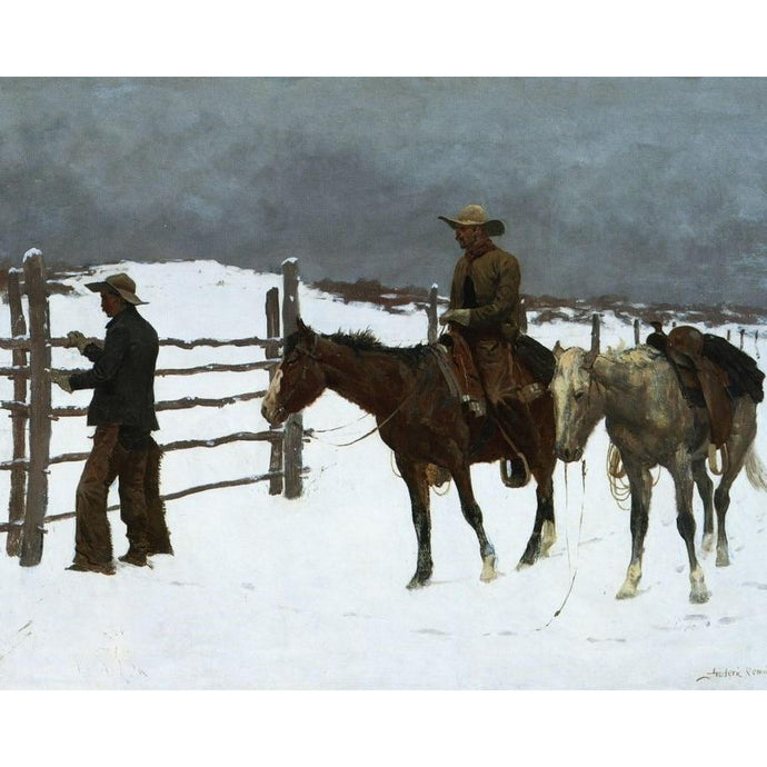 DIY Paint by Number kit for Adults on Canvas-The Fall of the Cowboy- Frederic Sackrider Remington - 1895-Home