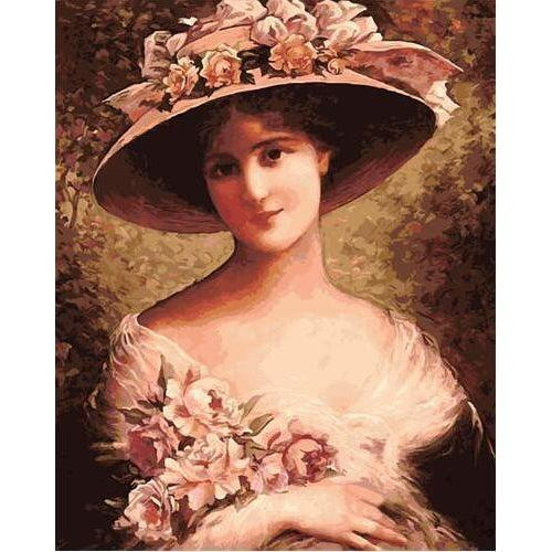 DIY Paint by Number kit for Adults on Canvas-The fancy bonnet - Emile Vernon-Clean PBN