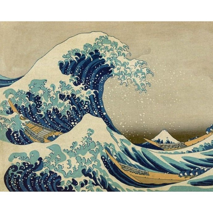 DIY Paint by Number kit for Adults on Canvas-The Great Wave off Kanagawa - Katsushika Hokusai - 1830-Clean PBN