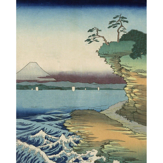 DIY Paint by Number kit for Adults on Canvas-The Hota Coast in Awa Province - Katsushika Hokusai - 1858-Clean PBN