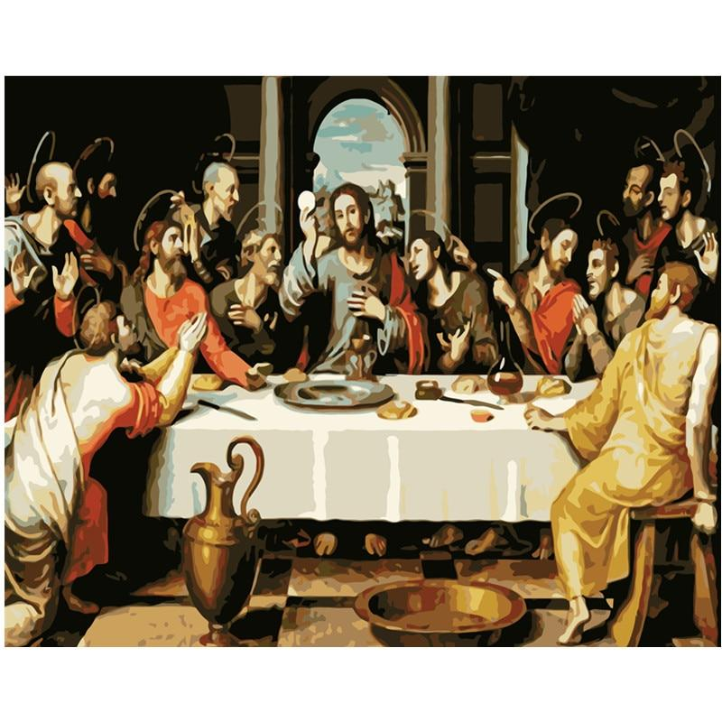 DIY Paint by Number kit for Adults on Canvas-The Last Supper - Vicente Juan Macip - 1562-Painting & Calligraphy