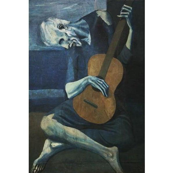 DIY Paint by Number kit for Adults on Canvas-The Old Blind Guitarist - Pablo Picasso - 1903-Home