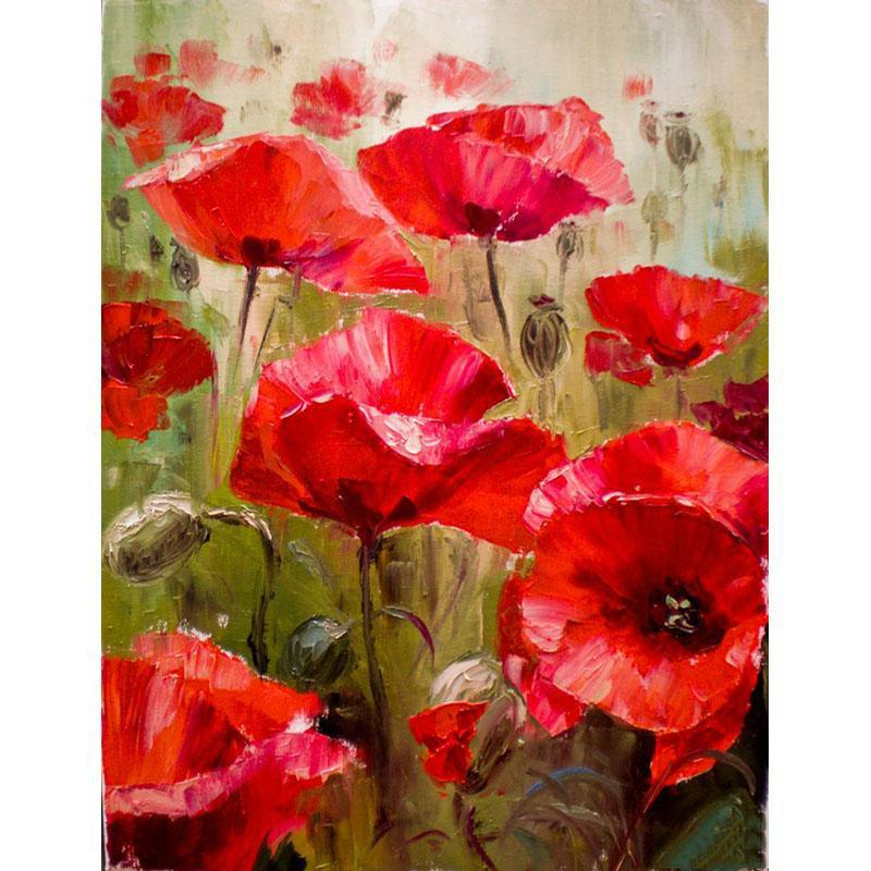 The Poppy Flowers My Paint By Numbers