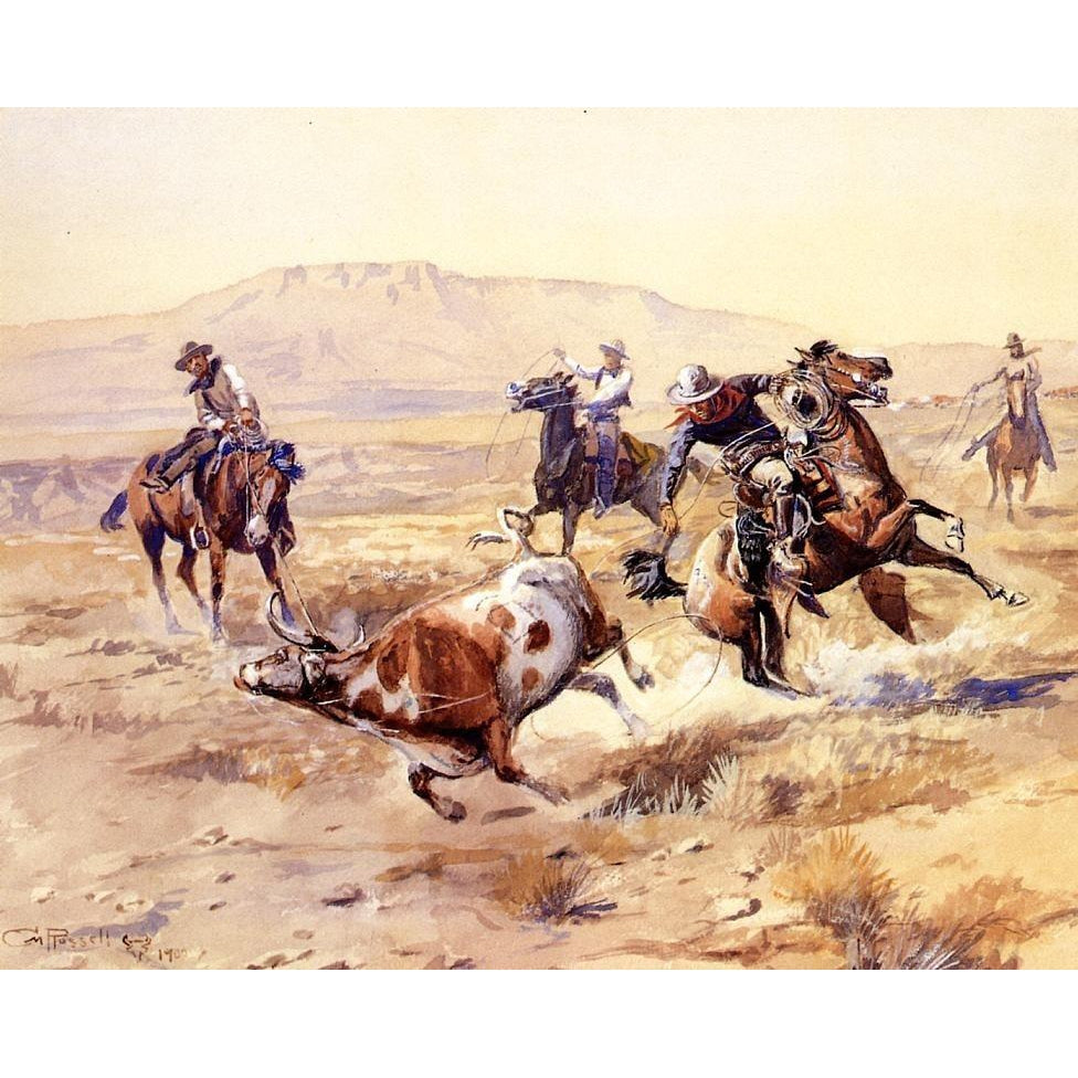 The Renegade - Charles Marion Russell - 1900 - Paint by Numbers Kit