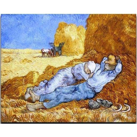 DIY Paint by Number kit for Adults on Canvas-The siesta (after Millet) - Van Gogh-Clean PBN
