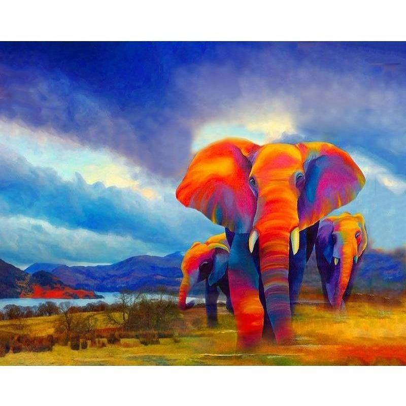 DIY Paint by Number kit for Adults on Canvas-Thermal Elephant-40x50cm (16x20inches)