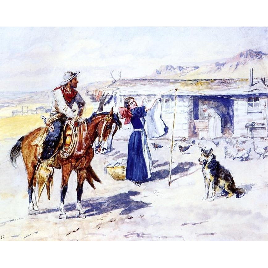 Thoroughman's Home on the Range - Charles Marion Russell -1897 - Paint by Numbers Kit