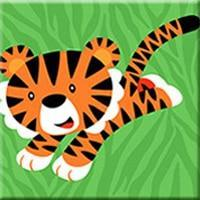 DIY Paint by Number kit for Adults on Canvas-Tiger Pal - [Tiny Print]-Painting & Calligraphy