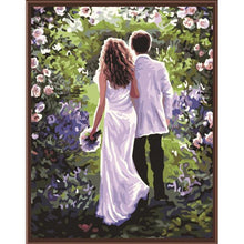 DIY Paint by Number kit for Adults on Canvas-Together Forever Newlyweds-40x50cm (16x20inches)