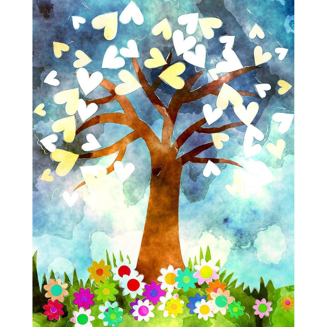 DIY Paint by Number kit for Adults on Canvas-Tree of Hearts-Home