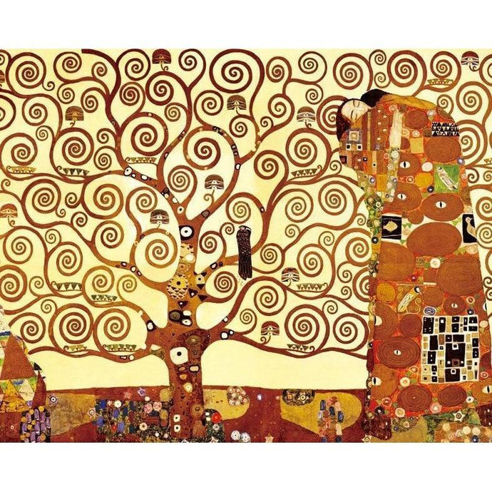 DIY Paint by Number kit for Adults on Canvas-Tree of Life - Gustav Klimt - 1909-Home