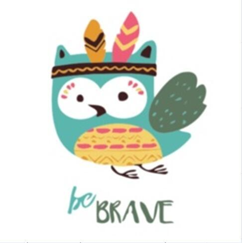 DIY Paint by Number kit for Adults on Canvas-Tribal Brave Owl - [Tiny Print]-Painting & Calligraphy