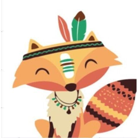 Tribal Fox - [Tiny Print] - Paint by Numbers Kit