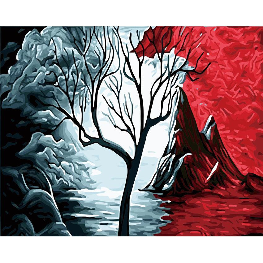 DIY Paint by Number kit for Adults on Canvas-Turning Tree-40x50cm (16x20inches)