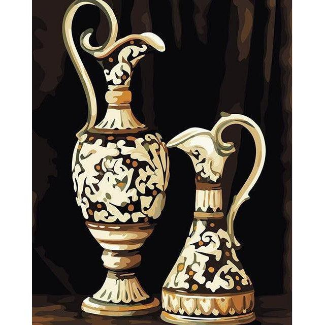 Two Vases - Paint by Numbers Kit