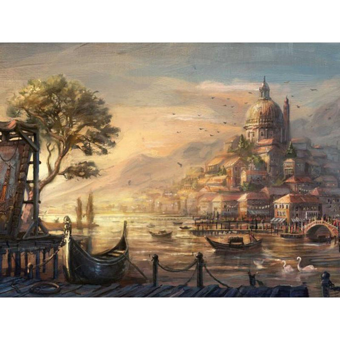 DIY Paint by Number kit for Adults on Canvas-Venetian Early Morning-40x50cm (16x20inches)