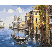DIY Paint by Number kit for Adults on Canvas-Venetian Gondola Ride-40x50cm (16x20inches)