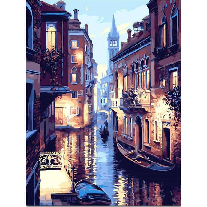 DIY Paint by Number kit for Adults on Canvas-Venitian Dusk-40x50cm (16x20inches)