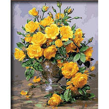 Vibrant Yellow Flowers - My Paint by Numbers