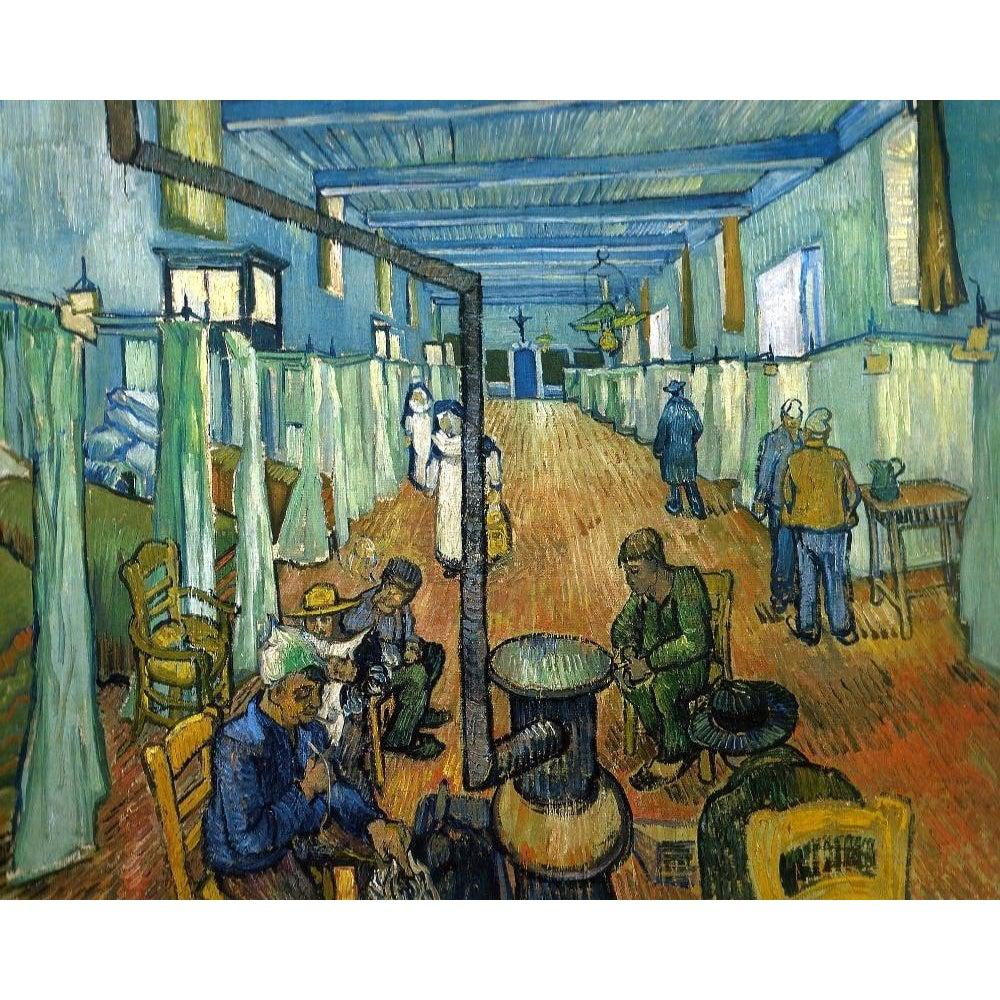 DIY Paint by Number kit for Adults on Canvas-Ward in the Hospital in Arles - Vincent van Gogh - 1889-