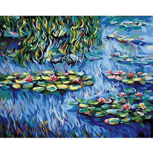 DIY Paint by Number kit for Adults on Canvas-Water Lilies - Claude Monet-Clean PBN