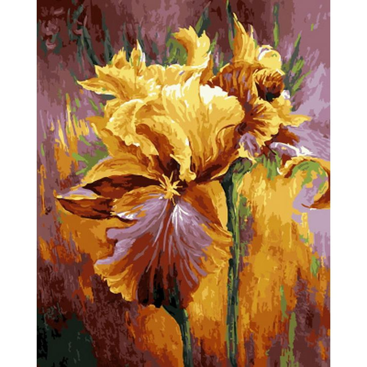 DIY Paint by Number kit for Adults on Canvas-Wilting Yellow Flowers-40x50cm (16x20inches)