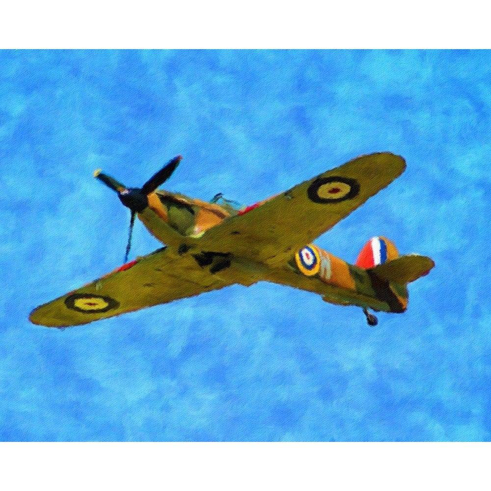 WW2 Hurricane Fighter Plane - Paint by Numbers Kit