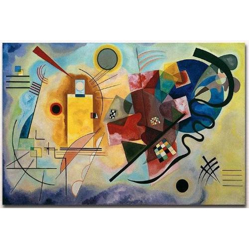 DIY Paint by Number kit for Adults on Canvas-Yellow Red Blue - Wassily Kandinsky-30x40cm (12x16inces)