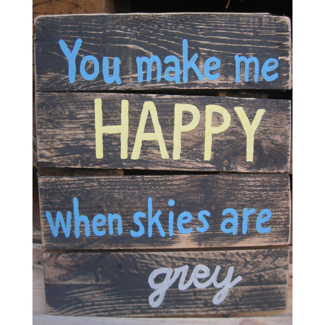 DIY Paint by Number kit for Adults on Canvas-You Make Me Happy-Home
