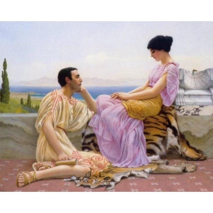 DIY Paint by Number kit for Adults on Canvas-Youth and Time - John William Godward - 1901-Home