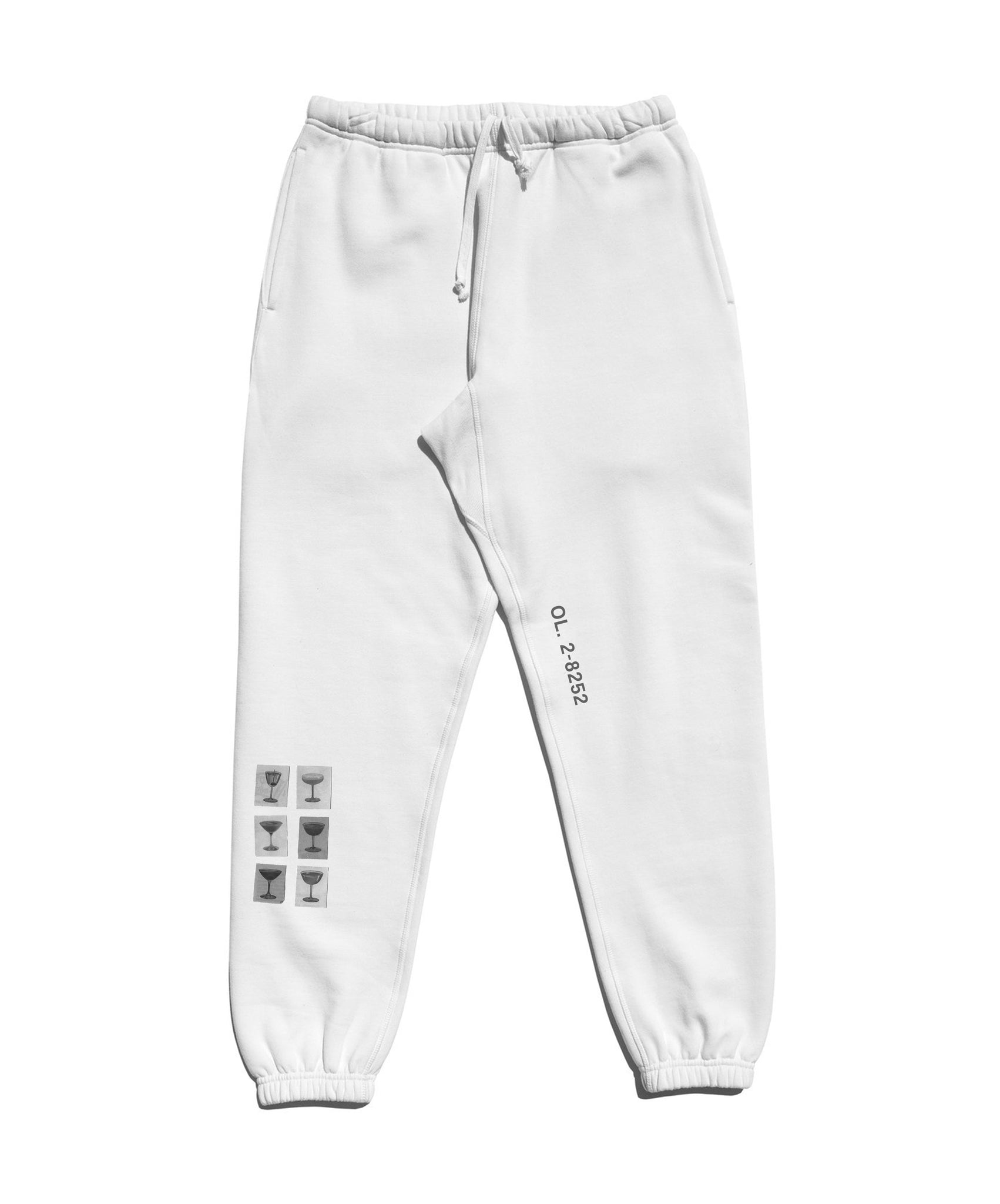Wine & Dine Sweatpant (White)
