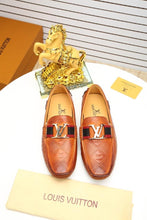 Special Print LV Design Leather Loafers