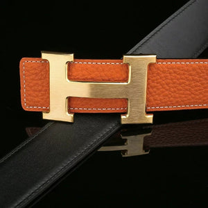 Unique Leather H Belts