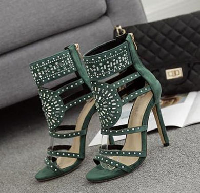 Rhinestone High Heels