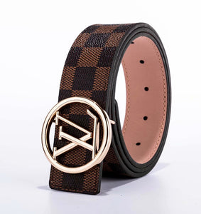 LV Round Leather Belts