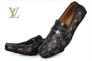Special Leather Design Loafers