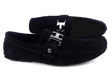 Buckle Suede Loafers