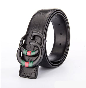 GG Leather Print Belts