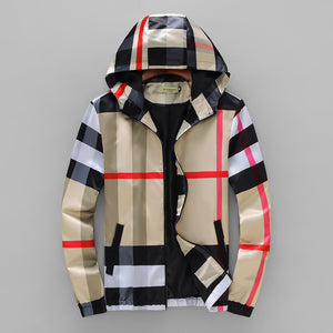 Designer Plaid Hooded Jackets