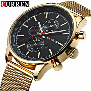 CURREN Relojes Mesh Watches